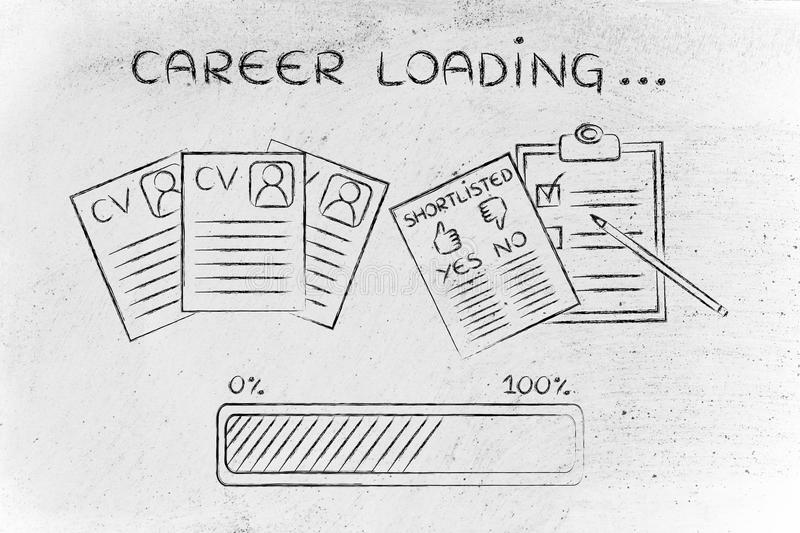 Career Loading CV And Shortlist Of Candidates Stock Photo - Image