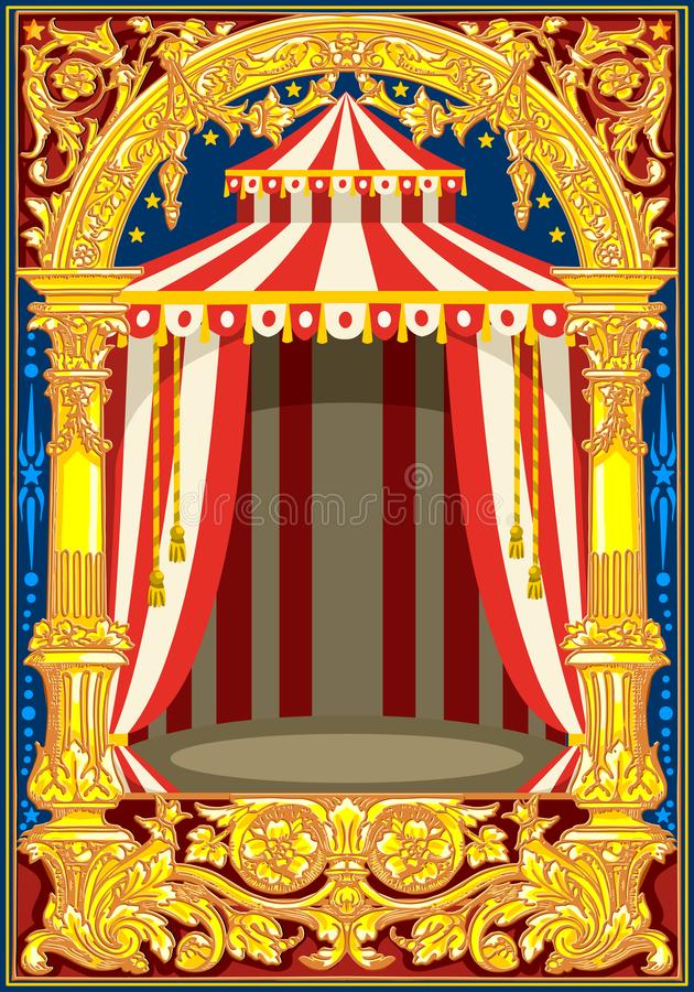 Carnival Circus Birthday Card Poster Stock Vector - Illustration of - circus party invitation