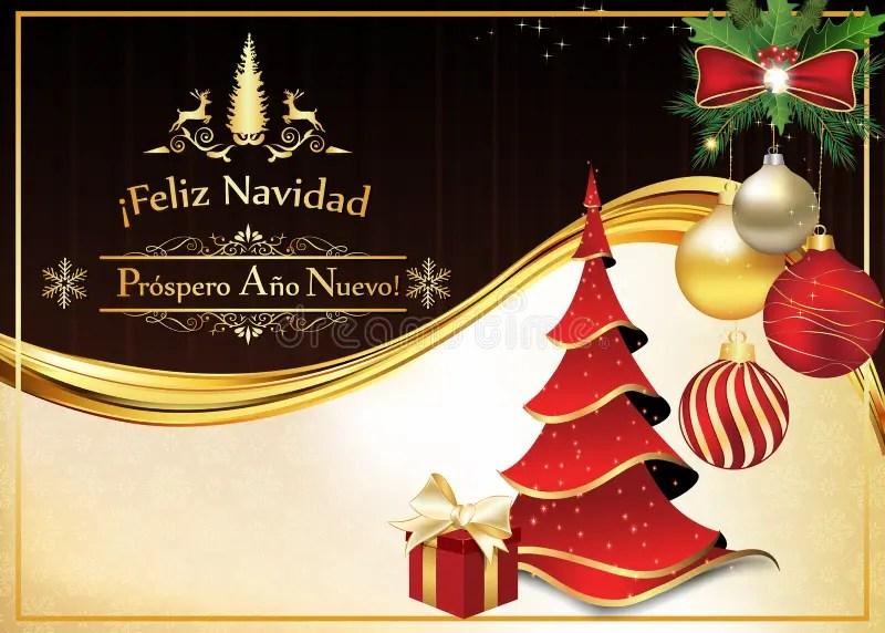 Cartão Espanhol Pelo Natal E O Ano Novo Imagem de Stock - Imagem de