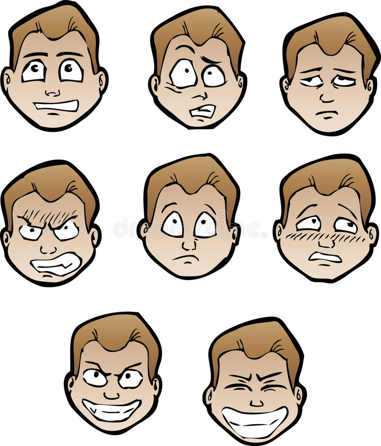 Cartoon faces male stock vector Illustration of caricature - 20896227