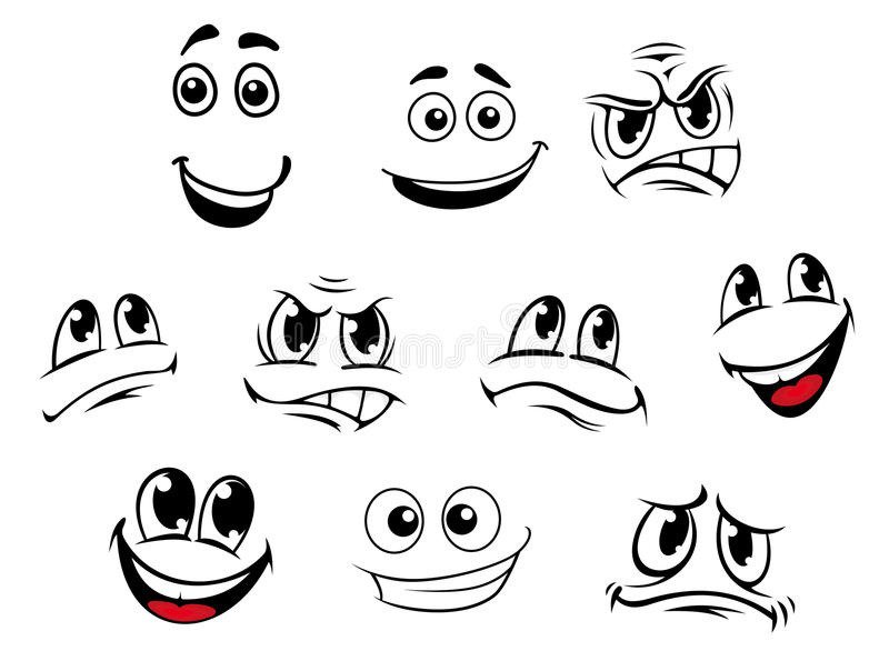 Cartoon faces set stock vector Illustration of funny - 33339367