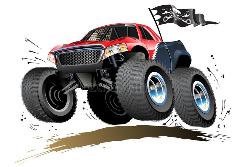 Car Tire With Wrench Wallpaper Cartoon Monster Buggy Royalty Free Stock Photography