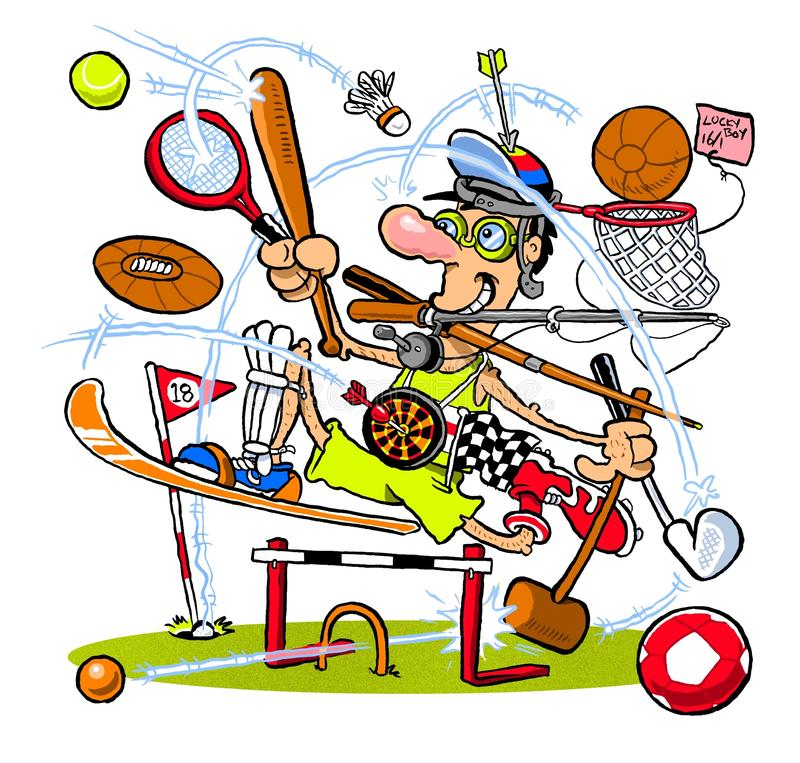 Cartoon sportsman stock image Image of active, male - 75998859