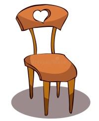 Black Wooden Chair. Cartoon Wooden Chair Stock Vector ...