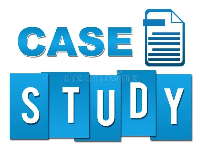 Case Study Blue Professional With Symbol Stock Illustration - studyblue