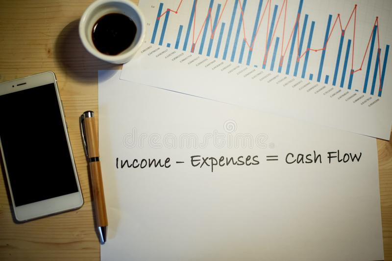 Cash Flow Statement Printed On A White Sheet Of Paper During A