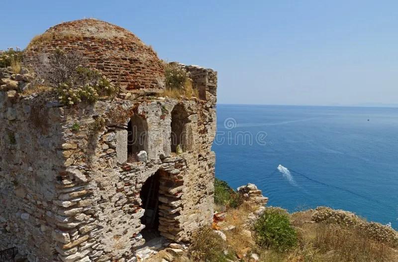 Castle Of Skiathos Island In Greece Stock Image - Image of greek