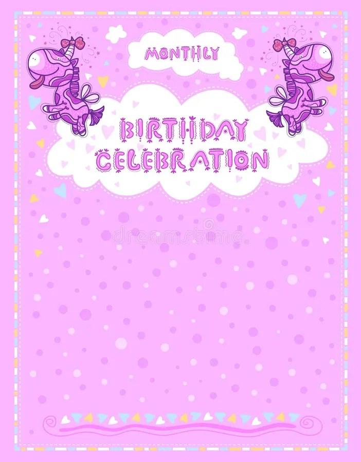 Celebration Letter For Birthdays Children Stock Vector - celebration letter