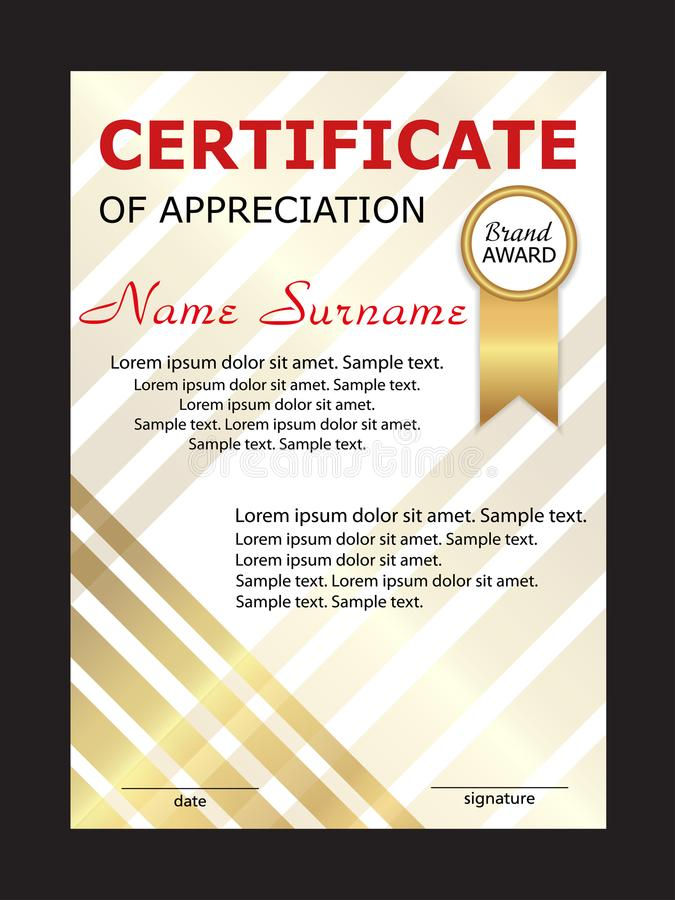 Lujo Plantilla De Certificado Del Aprecio Del Pastor Componente