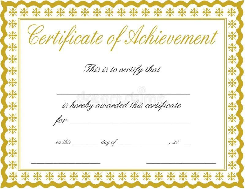 Certificate of achievement stock image Image of bronze - 18582409