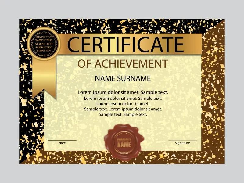 Certificate Of Achievement Template Vector Stock Vector - certificate of achievement for students
