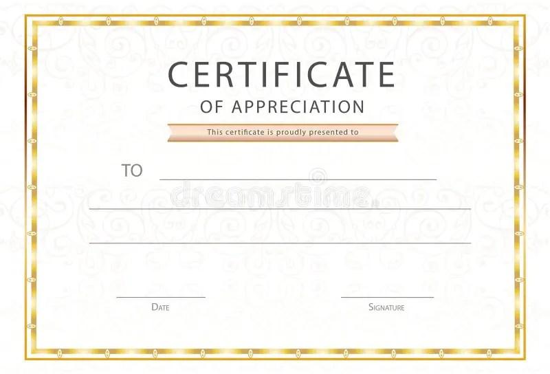 Certificate Of Appreciation / Diploma Template Award Certificate