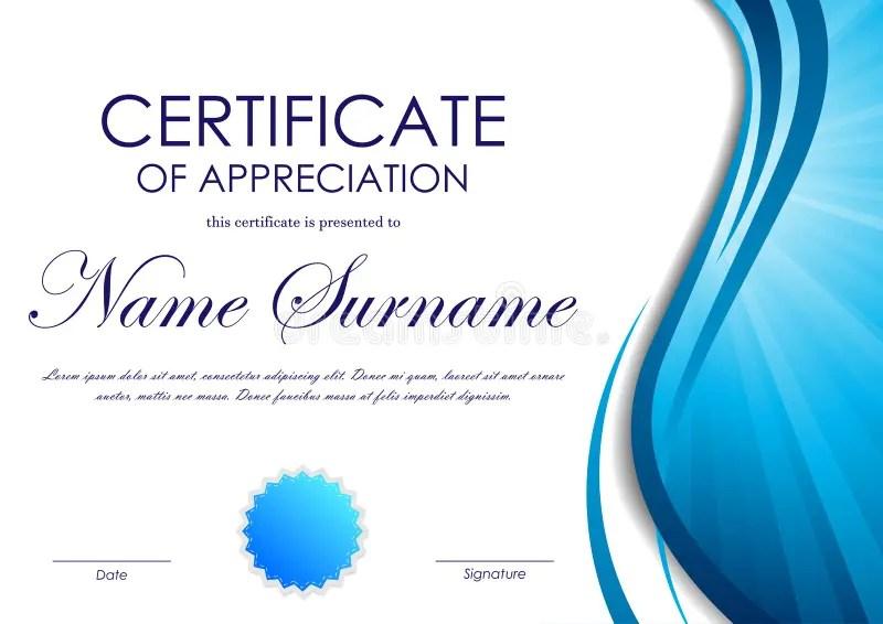 Certificate Of Appreciation Template Stock Vector - Illustration of - certificate of appreciation template