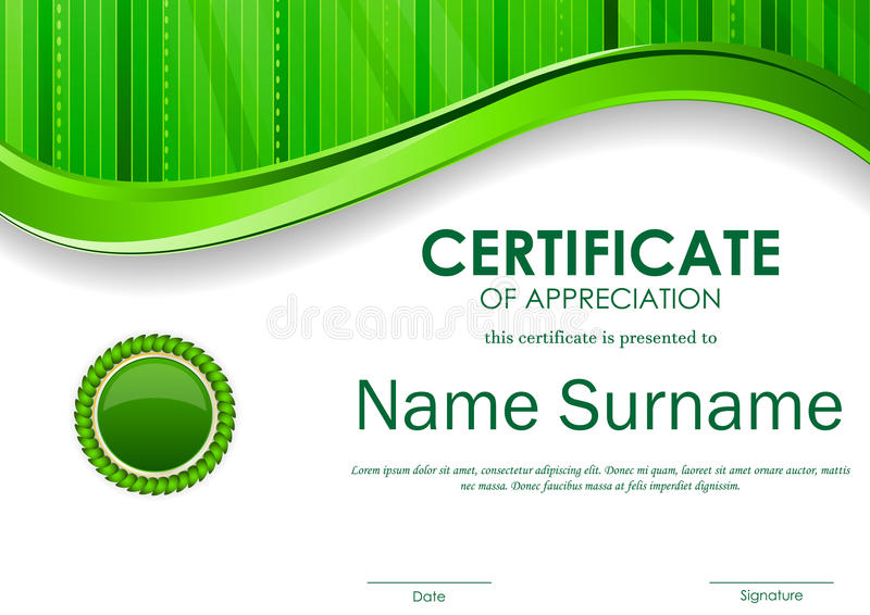 Certificate Of Appreciation Template Stock Vector - Illustration of - certificate of appreciation templates free download