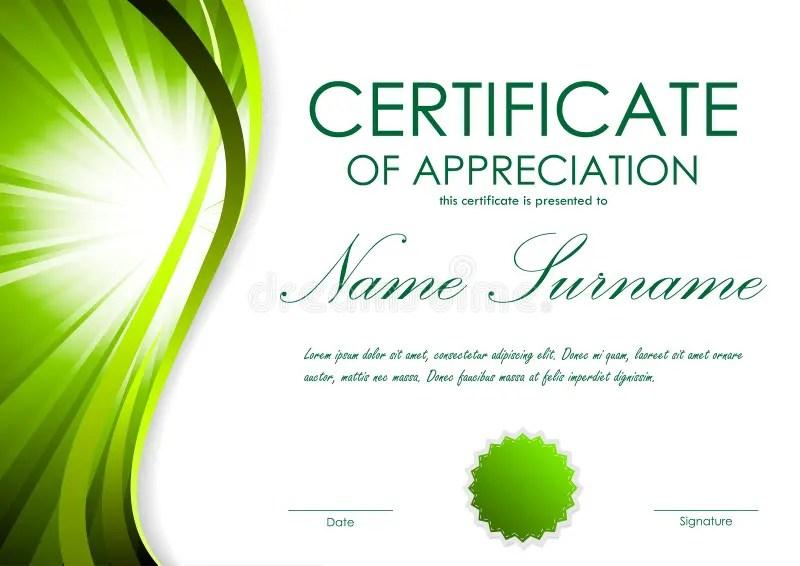 Certificate Of Appreciation Template Stock Vector - Illustration of - certificate of appreciation