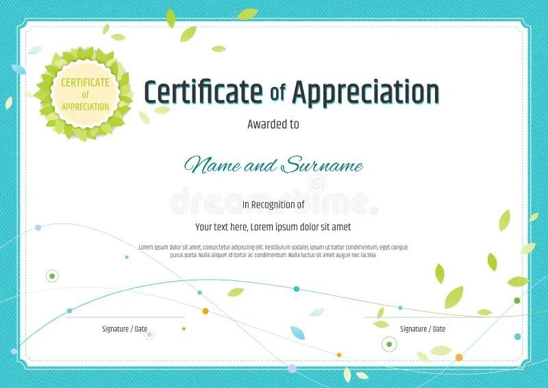 Certificate Of Appreciation Templates Free Download examples of – Certification of Appreciation Wording