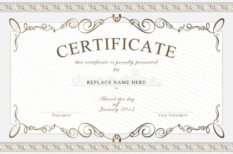 Certificate border template sonundrobin certificate border template yadclub Image collections