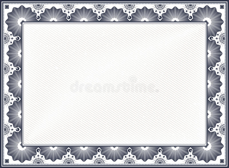 Certificate Border stock vector Illustration of achievement - 46715279
