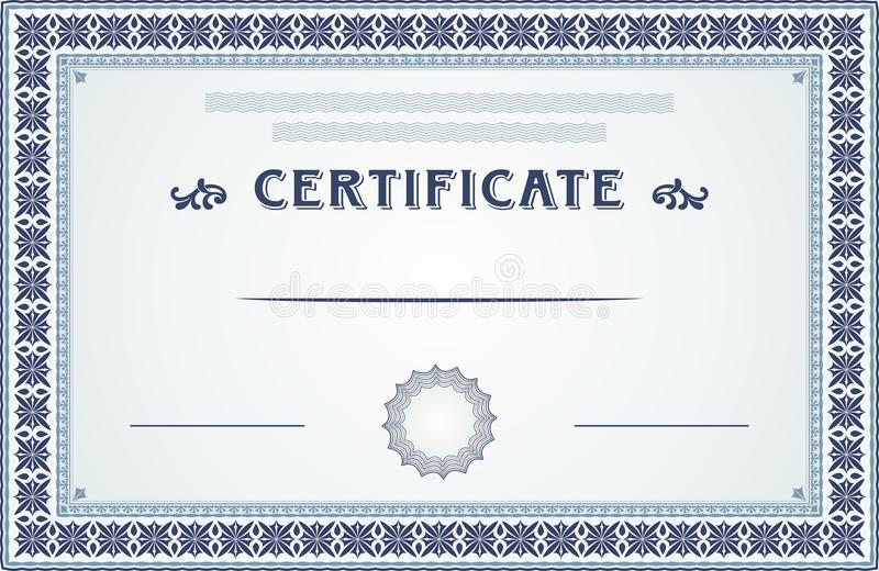 Certificate Border And Template Design Stock Vector - Illustration - certificate border templates