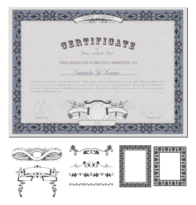 Certificate Or Coupon Template Stock Vector - Illustration of award - money coupon template