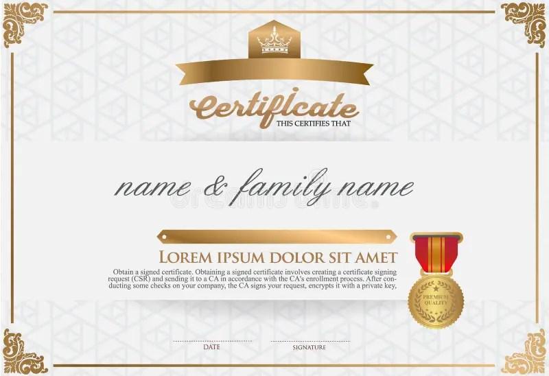 certificates design - Kordurmoorddiner