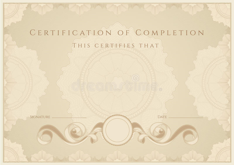 Certificate / Diploma Award Template Pattern Stock Vector - Award Paper Template