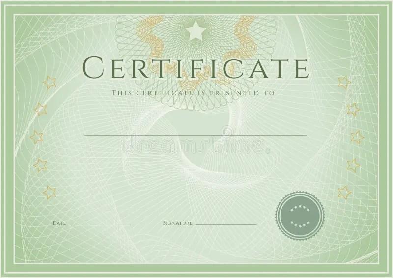 Certificate / Diploma Award Template Grunge Patte Stock Vector