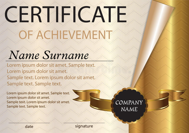 Certificate Or Diploma Template Award Winner Winning The Compe