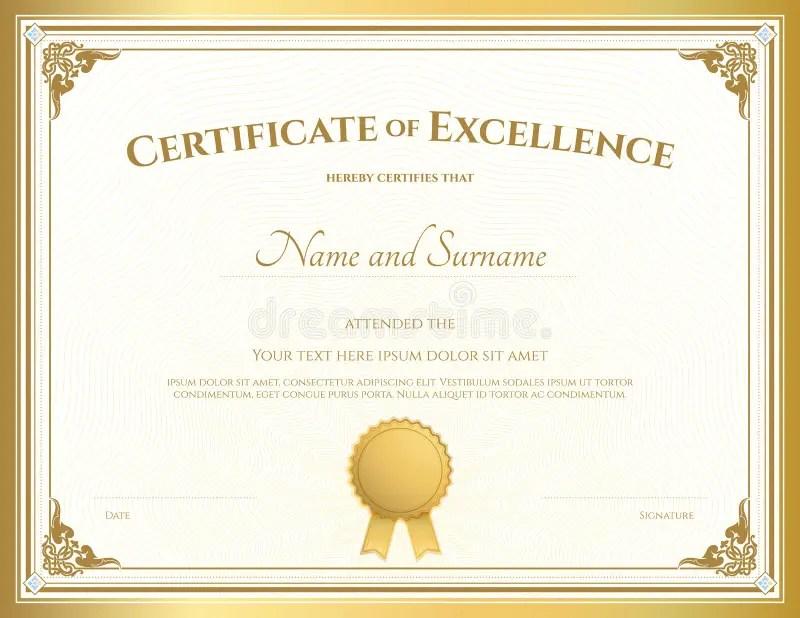 excellence certificate - Goalgoodwinmetals