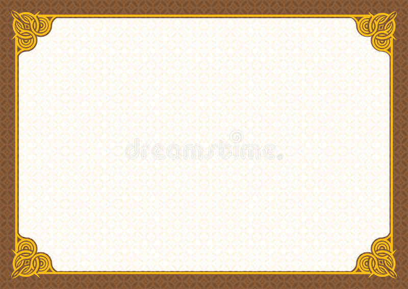 Certificate Template Blank stock vector Illustration of border - certificate template blank