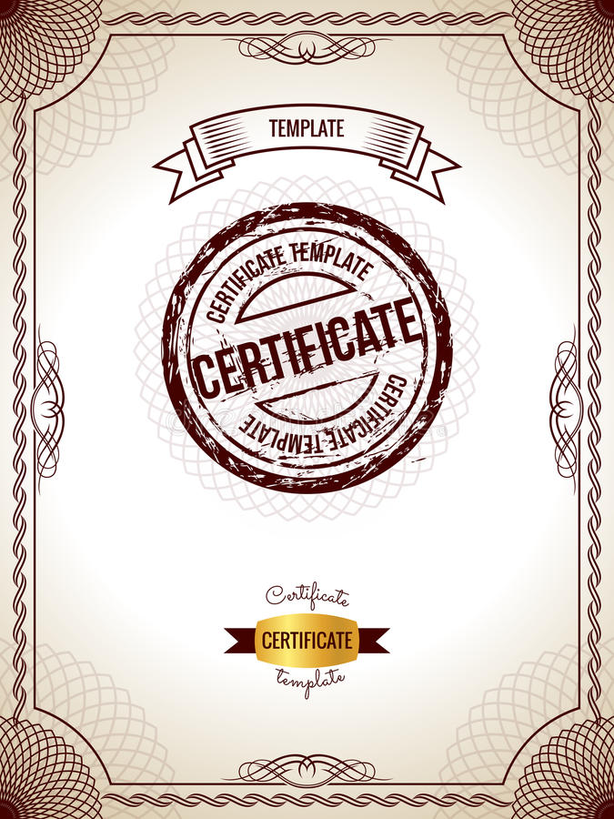 Certificate Template Vector Illustration Of Gold Detailed Blank - blank voucher template