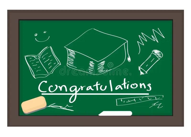 CHALKBOARD Congratulations On Graduating Stock Vector