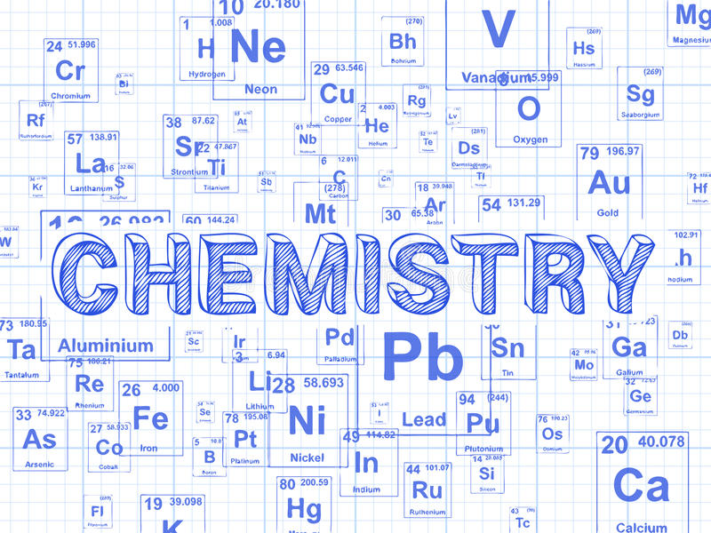 Chemistry Background Graph Paper Stock Vector - Illustration of