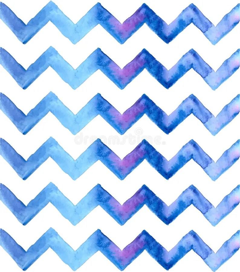 Chevron Watercolor Blue Background Stock Vector - Illustration of
