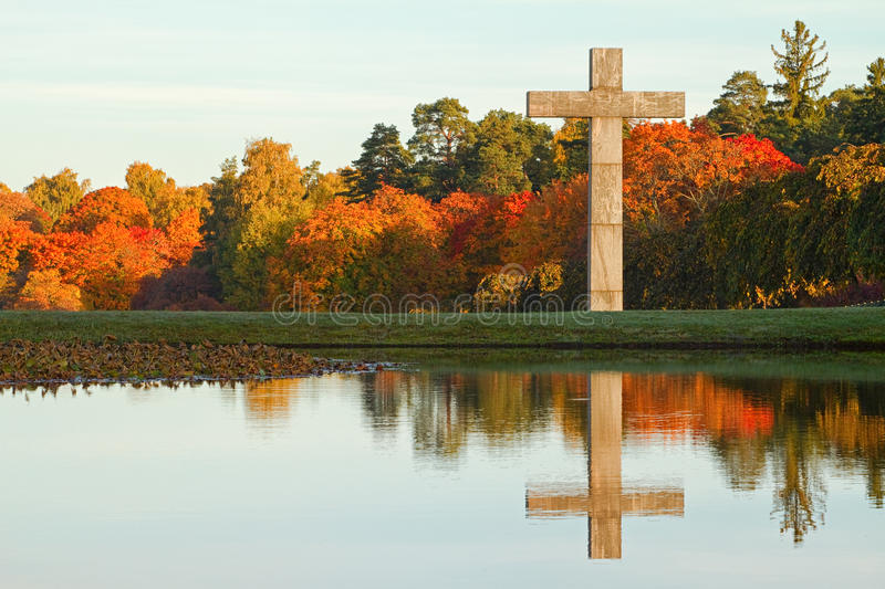 Fall Pics With Scripture Wallpaper Christian Cross In Autumn Landscape Stock Image Image