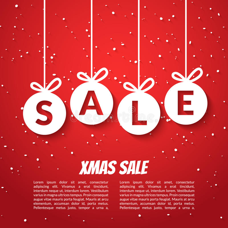 Christmas Balls Sale Poster Template Xmas Sale Background Winter - template for christmas