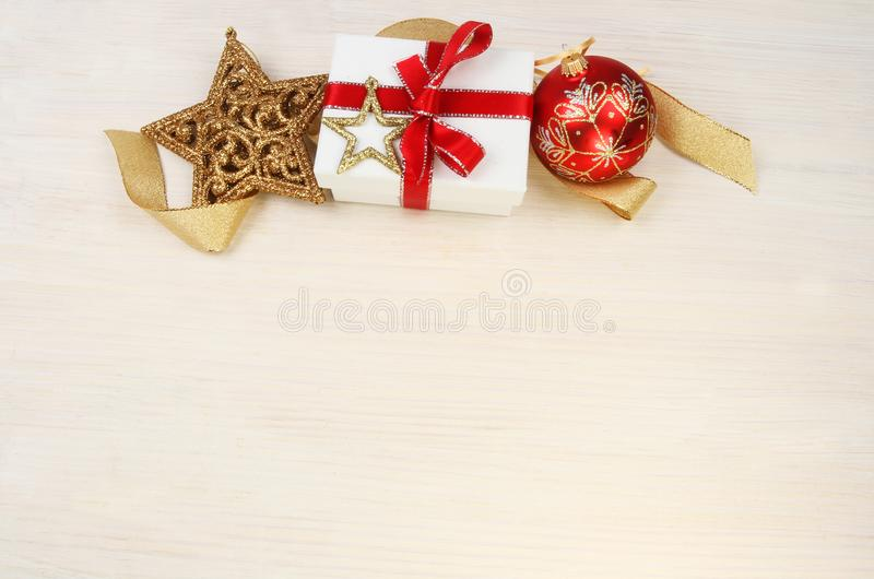 Christmas gift theme stock image Image of bauble, glitter - 105387479