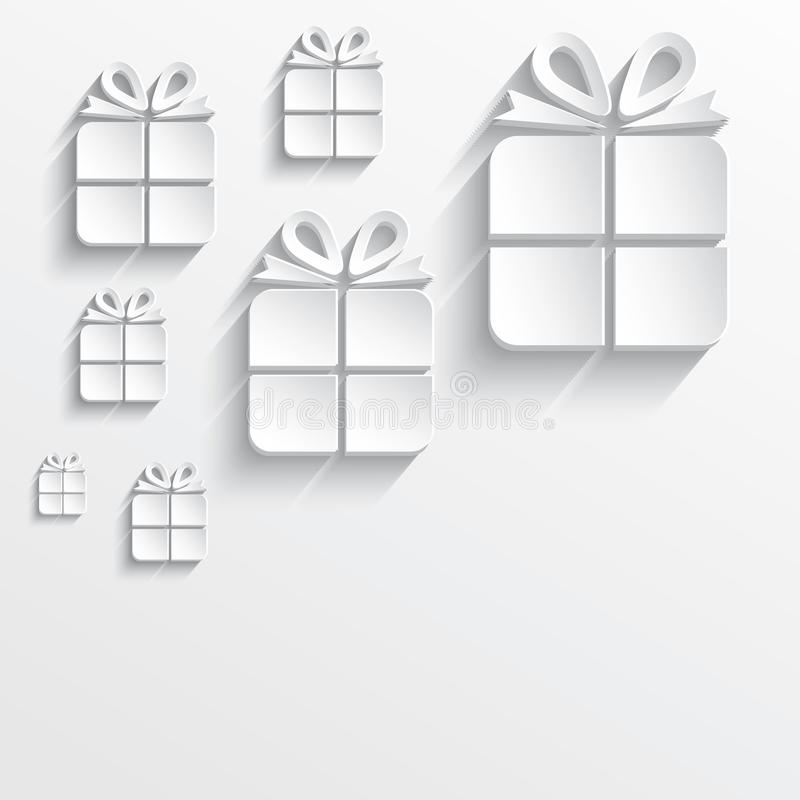 Christmas Gift White Paper 3D Stock Vector - Illustration of papery - white paper template