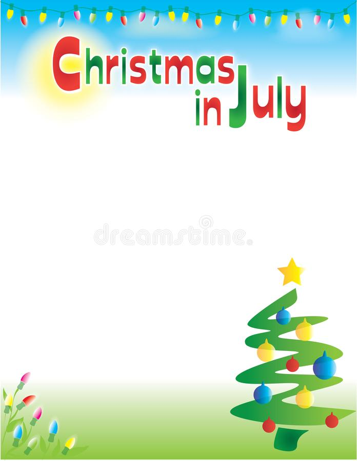 Christmas In July Postcard Flyer Background Template Stock