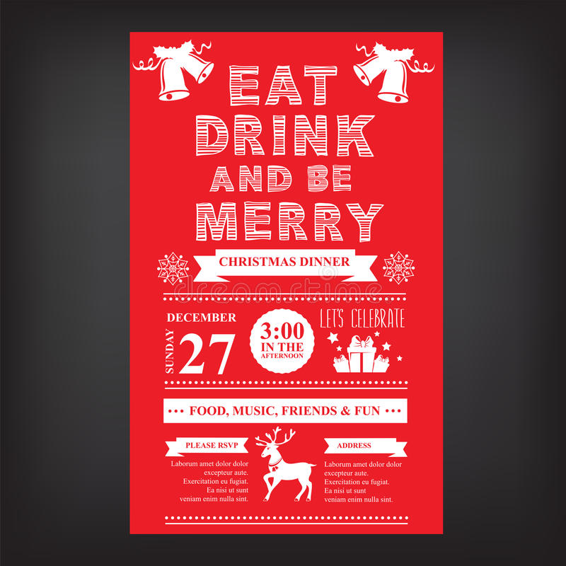 Christmas Restaurant And Party Menu, Invitation Stock Vector - christmas luncheon flyer