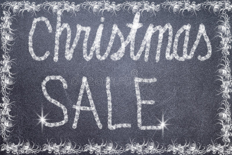 Christmas Sale Text Written On Chalkboard Stock Image - Image of - chalkboard writing template
