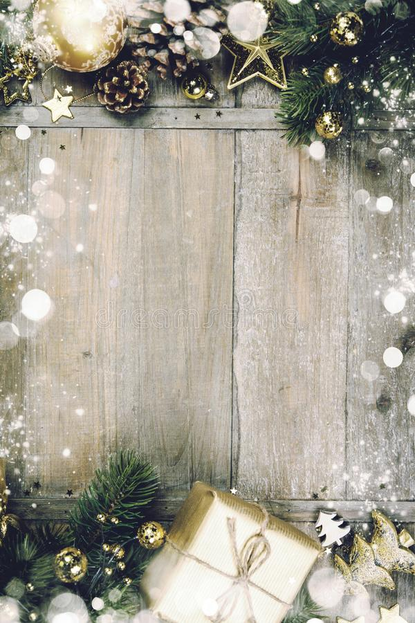 Christmas Theme Background In Vintage Style Stock Photo - Image of - christmas theme background