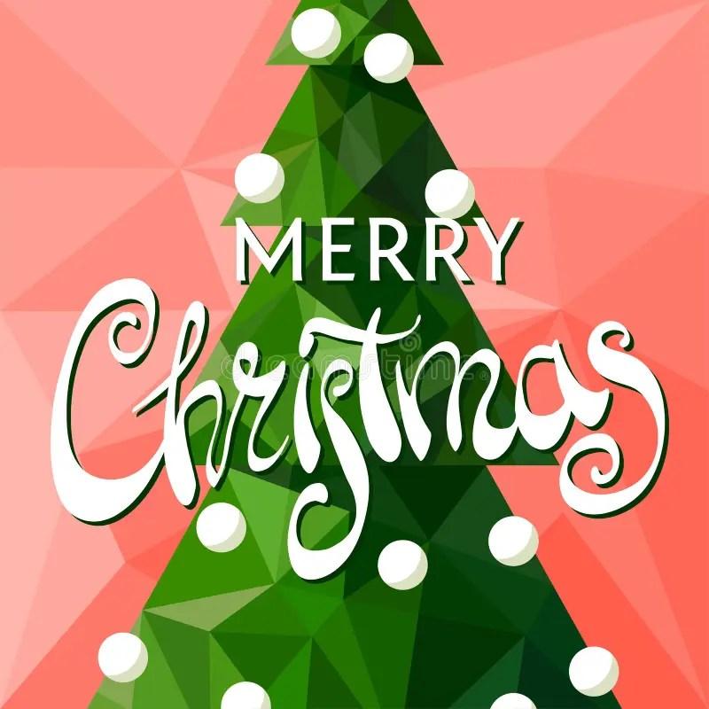 Christmas Tree With The Words Merry Christmas Stock Vector - christmas tree words