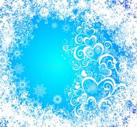 Christmas Vector Grunge Background. Frozen Window Stock ...