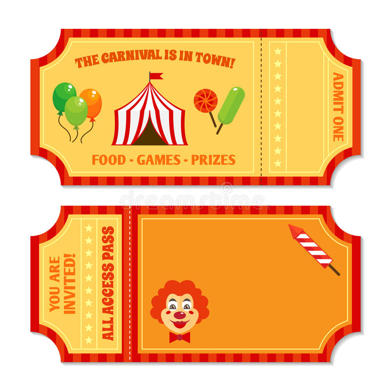 Circus tickets template stock vector Illustration of business - food tickets template