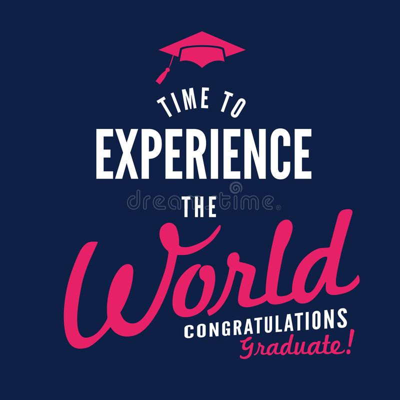 Class Of 2017 Congratulations Graduate Typography Stock Vector