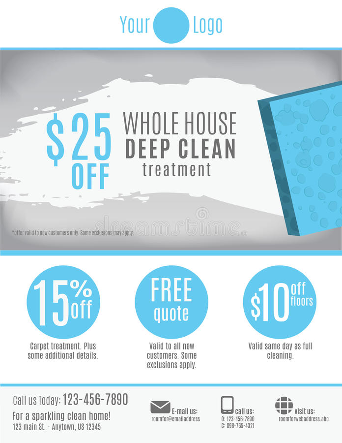 Cleaning Service Flyer Template Advertisement Stock Vector - Image - house cleaning flyer template