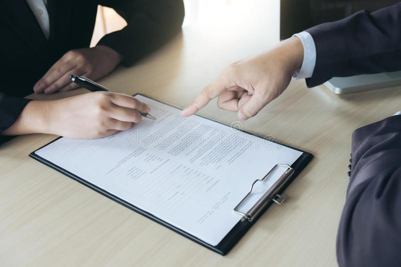 Closeup Of Woman Applicant Writing In Resume Form, Person Comple