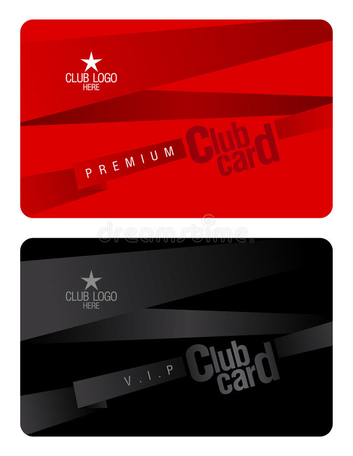 Club card design template stock vector Illustration of access - club card design