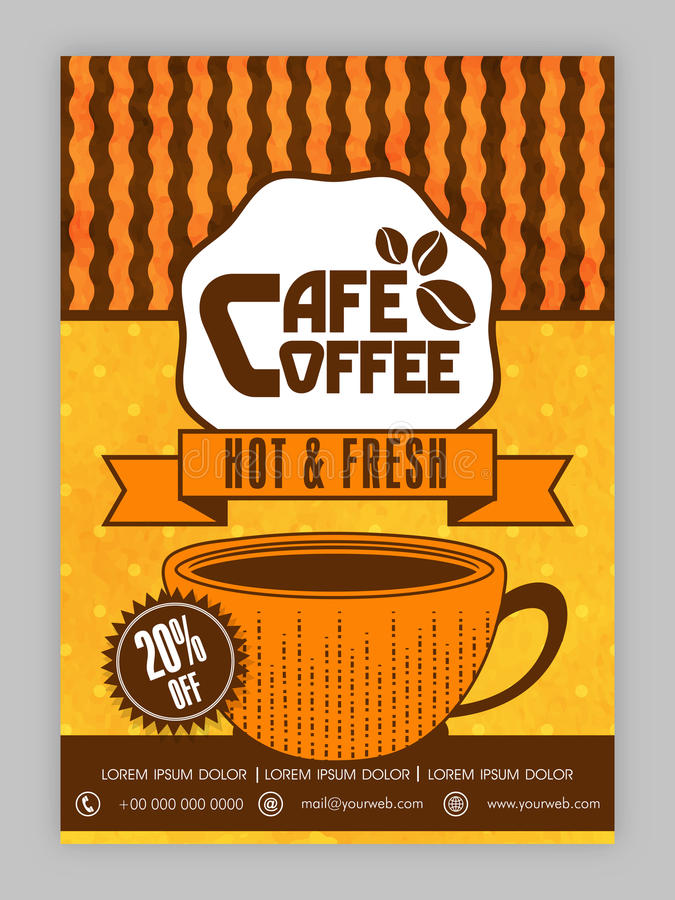 Coffee House Template, Brochure Or Flyer Design Stock Illustration